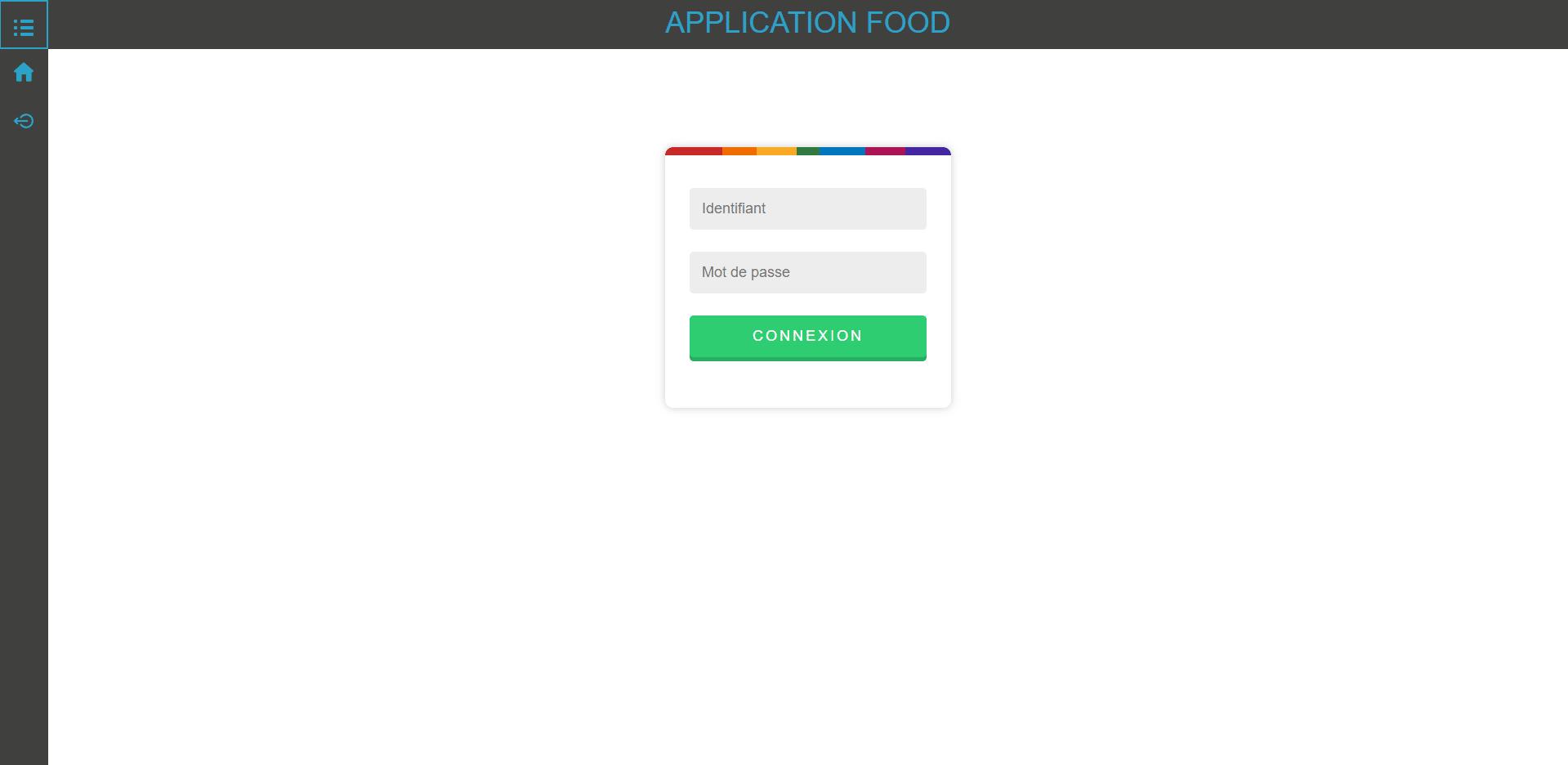 Logiciel web sur mesure food réalisé par rockett